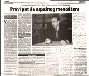 Pravi put do uspesnog menadzera, Vesna Sekerezovic, Danas - Inervju sa Dejanom Trpkovicem, Prodirekt, 22MAR2004