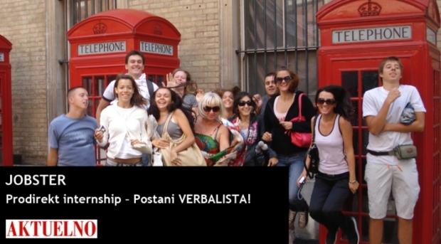 AKTUELNO featuring Prodirekt internship opportunity with language network Verbalisti