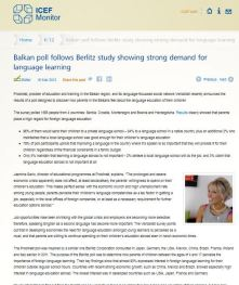 ICEF Monitor features Prodirekt Language Learning Poll