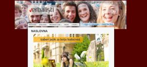 Verbalisti and foreign languages website in Serbian