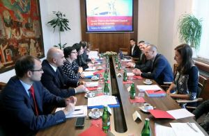 Interpreting in Serbian and Slovak languages during the study visit to the National Council of the Slovak Republic