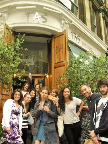 Laura with her classmates, English language teacher training in London, Verbalists