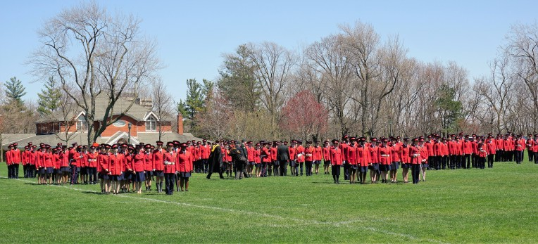 Ridley College cadets on parade for annual inspection, PRODIREKT