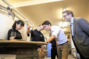 Justin Trudeau, Prime Minister of Canada, visit to the Niagara College Teaching Winery